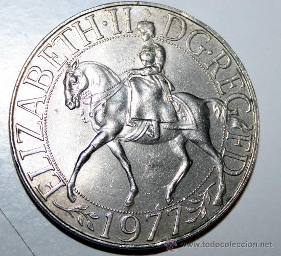 Elizabethii Dg Reg Fd 1977 Moneda Plateada Comprar Medallas
