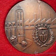 Medallas temáticas: MEDALLA EN BRONCE, 1ª EXPOSICION NACIONAL DE TEMAS DEPORTIVOS. SABADELL 1967. Lote 25092436