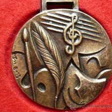 Medallas temáticas: MEDALLA DE METALL DAURAT, III EXPOSICIO, FESTA MAJOR LES ARENES , CAN MOTLLOR I LA GRIPA.1988. FIRMA. Lote 25559711