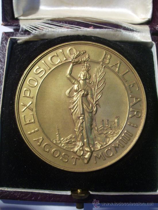 Medallas temáticas: Mallorca. Baleares. Exposición Balear. 1903. Medalla de Oro. Con Estuche. - Foto 2 - 26486092