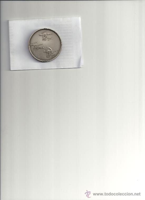 AS7. MEDALLA CONMEMORATIVA 125 AÑOS TRANVIA 150 AÑOS TREN Y 75 AÑOS METRO BARCELONA. AMPLIAR FOTO (Numismática - Medallería - Temática)