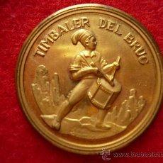 Medallas temáticas: MEDALLA DE METALL DAURAT, DEL TIMBALER DEL BRUC. ESCUTS DE BARCELONA TARRAGONA LLEIDA I GIRONA.. Lote 27097814