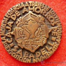 Medallas temáticas: RARA MEDALLA DE BRONCE,CAJA DE AHORROS DE SABADELL. 1968. FIRMA A. BISBE.. Lote 27340667