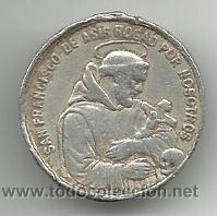 MEDALLA DE SAN FRANCISCO DE ASIS Y DE SAN ANTONIO DE PADUA (Numismática - Medallería - Temática)