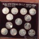 Medallas temáticas: 13 MEDALLAS MALAGUEÑOS EN LA HISTORIA. Lote 34002581