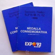 Medallas temáticas: MEDALLAS CONMEMORATIVAS EXPO-92 . NUMERACION CORRELATIVA. Lote 29969589