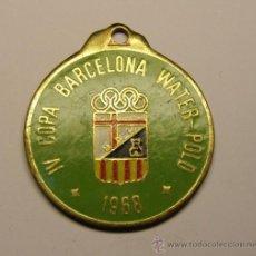 Medallas temáticas: MEDALLA DE IV COPA WATER POLO BARCELONA. AÑO 1968. UNIÓN DEPORTIVA HORTA.. Lote 30452377