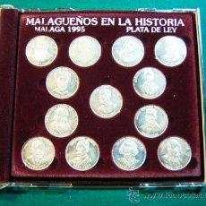 Medallas temáticas: NUMISMATICA MONEDAS CONMEMORATIVAS MALAGUEÑOS ILUSTRES PLATA DE LEY MALAGA AÑO 1995. Lote 38701517