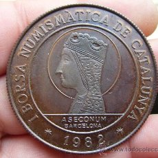 Medallas temáticas: MEDALLA DE LA I BORSA NUMISMATICA DE CATALUNYA 1982 - VISITA DE S.S. JUAN PABLO II A ESPAÑA. Lote 30980643