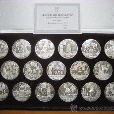 Medalhas temáticas: COLECCIÓN DE MEDALLAS `AUTONOMÍAS DE ESPAÑA´. 17 MEDALLAS DE 60 MM. Y 80 GR. EN PLATA FINA 1000/1000. Lote 31357337