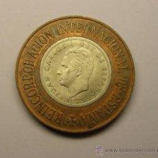 Medallas temáticas: MEDALLÓN REINCORPORACIÓN ESPAÑOLA A LOS DERECHOS HUMANOS. CALICÓ. 1977. Lote 32013919