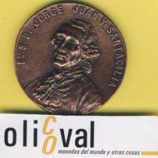 Medallas temáticas: BANCO BANCOS CAJA CAJAS DEL MEDITERRANEO MEDALLA 1999 55MM JORGE JUAN Y SANTACILIA SU LEGADO. Lote 32210679