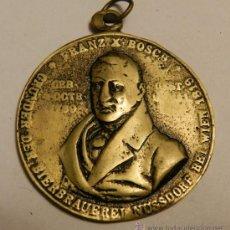 Medallas temáticas: MEDALLA COBRE DE FRANZ X BOSCH, GFRUNDER DER BIERBRAUERE NUSSDORF BEL WIEN 1819, MIDE 48 MM. TAL COM. Lote 33442140