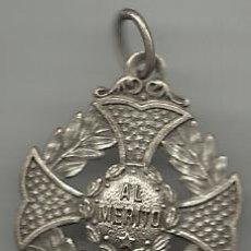 Medallas temáticas: ANTIGUA MEDALLA AL MERITO PLATEADA . Lote 33741302