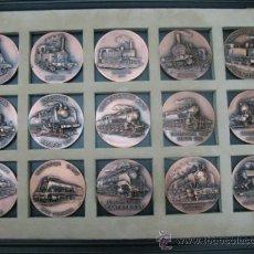 Medallas temáticas: EXTRAORDINARIA COLECCIÓN DE HISTORIA DE LOS FERROCARRILES ESPAÑOLES DE BRONCE. Lote 33806647