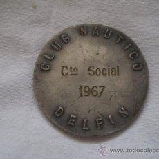 Medallas temáticas: ANTIGUA MEDALLA O IDENTIFICACION PARA CLUB NAUTICO DELFIN 1967 VALENCIA?. Lote 34150458