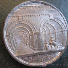 Medallas temáticas: RARA MEDALLA VICTORIANA CONMEMORATIVA TUNEL BAJO EL TAMESIS - LONDRES 1843 SIR ISAMBART MARC BRUNEL.. Lote 34214312
