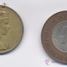 Medallas temáticas: LOTE DE DOS MEDALLAS. Lote 34276490