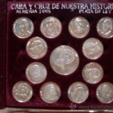 Medallas temáticas: ALMERIA 13 MONEDAS PLATA DE LEY 1ª FOTOS ADICIONALES. Lote 56826820