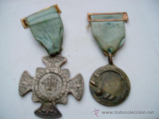 2 MEDALLAS -LEGION DE HONOR,LABOREMUS Y APLICACION. (Numismática - Medallería - Temática)