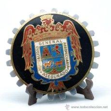 Medallas temáticas: PLACA MEDALLA ESMALTADA MUTUALIDAD GENERAL AGROPECUARIA ASEGURADO. Lote 35250066