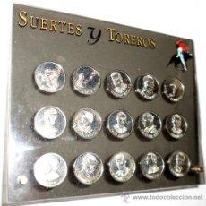 Medallas temáticas: MEDALLAS EN PLATA SOBRE TOREROS. Lote 35902071