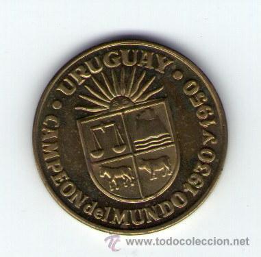 Medallas temáticas: ESPAÑA 82 MUNDIALES DE FUTBOL RFEF COPA DEL MUNDO URUGUAY CAMPEON 1930 1950 - Foto 2 - 36473391