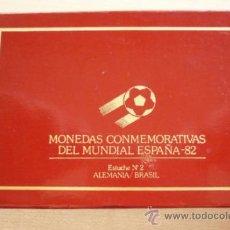 Medallas temáticas: MONEDAS CONMEMORATIVAS DEL MUNDIAL ESPAÑA 82 ESTUCHE Nº2. Lote 37012122