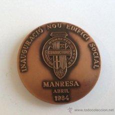 Medallas temáticas: MEDALLA MONTEPIO CONDUCTORES MANRESA BERGA ABRIL 1984. Lote 37014130