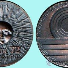 Medallas temáticas: ESPAÑA 1972.-CONGRESO DE ECOLOGÍA Y TURISMO DEL MEDITERRANEO OCCIDENTAL .. Lote 37286949