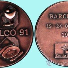 """Medallas temáticas: ESPAÑA 1991.- PUJOL.- """"HOSTELCO 91"""" BARCELONA 19-24 OCTUBRE FIRA DE BARCELONA. BRONCE.. Lote 37288773"""