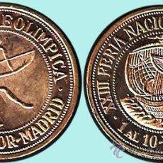 Medallas temáticas: ESPAÑA 1990.- MEDALLA EN COBRE DORADO. POR LA FNMT. II FERIA PRE-OLIMPICA. FDC.. Lote 91600072