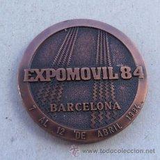 Medallas temáticas: MEDALLA DEL SALÓN EXPOMOVIL BARCELONA 1984. Lote 37492990