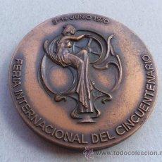 Medallas temáticas: MEDALLA DE LA FERIA INTERNACIONAL DE BARCELONA AÑO DEL CINCUENTENARIO JUNIO 1970. Lote 37493292