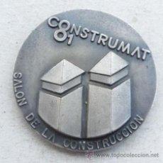 Medallas temáticas: MEDALLA DEL SALON INTREN. CONTRUCCIÓN FERIA DE BARCELONA CONSTRUMAT 1983. Lote 37515172