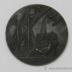 Medallas temáticas: ANTIGUA MEDALLA 3 SALON NAUTICO BARCELONA 1965, GALERA REAL 1568, EN COBRE, MIDE 5 DIAMETRO.. Lote 37584579