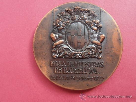 Medallas temáticas: Medalla de la feria internacional del Cincuentenario de la Feria de muestras de Barcelona de 1.970 - Foto 2 - 37642293