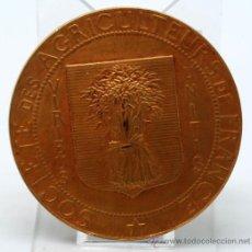 Medallas temáticas: MEDALLA AGRICULTURA SOCIETE DES AGRICULTEURS DE FRANCE CH PILLET BRONCE DORADO. Lote 37718110