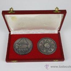 Medallas temáticas: M-01- PAREJA DE MEDALLAS CAMPEONATO DE TENIS DE MESA IBEROAMERICANOS MED S XX.. Lote 37782994