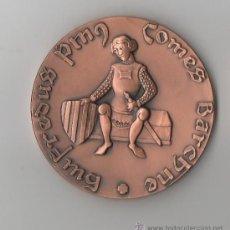 Medallas temáticas: MEDALLA CONMEMORATIVA INAUGURACIÓ MONUMENT FUNERARI DEL COMPTE GUIFRÉ I EL PELÓS · RIPOLL. Lote 104499798