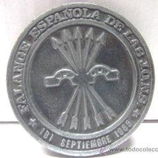 Medallas temáticas: BONITO EMBLEMA METÁLICO CONMEMORATIVO TEMA FALANGE -- IBI ALICANTE. Lote 38696695