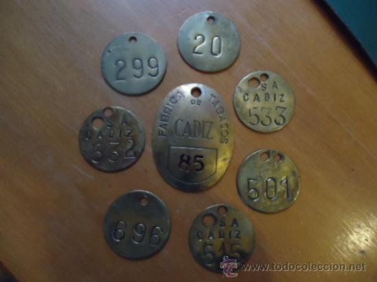 Medallas temáticas: oferton coleccion chapas identificativas metal tabacaleras fabricas de tabacos cadiz - originales - Foto 4 - 38876153