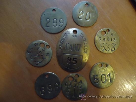Medallas temáticas: oferton coleccion chapas identificativas metal tabacaleras fabricas de tabacos cadiz - originales - Foto 5 - 38876153