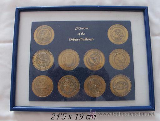 COLECCION COMPLETA MEDALLA NAVES CHALLENGER ESPACIAL (Numismática - Medallería - Temática)