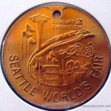 Medallas temáticas: GRAN MEDALLA . JETON-TOKEN . SEATTLE WORLD`S FAIR . 1962. Lote 39203372