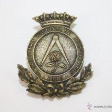 Medallas temáticas: PIN040 INSIGNIA DE LA V ASAMBLEA NACIONAL DE ARQUITECTOS - 1949. Lote 39415683