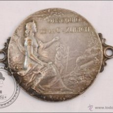 Medallas temáticas: MEDALLA OBSEQUIO DE LA COMPAÑIA DE SEGUROS ZURICH, GRABADA POR F.P. LASSERRE. Lote 39587010