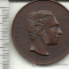Medallas temáticas: (MED-9)MEDALLA DE BRONCE, MENCIÓN EN LA EXPOSICIÓN NACIONAL VINÍCOLA DE 1877. ALFONSO XII. Lote 39764323