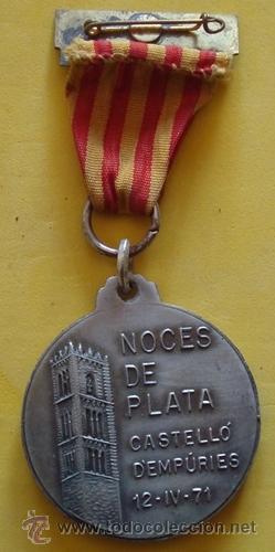Medallas temáticas: MEDALLA HOMENAJE A LA VEJEZ NOCES DE PLATA CASTELLÓ D´EMPÚRIES 12/4/71 - Foto 3 - 40238424