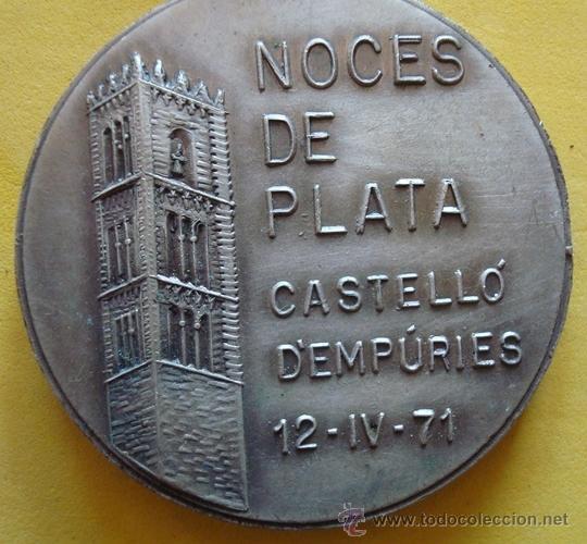 Medallas temáticas: MEDALLA HOMENAJE A LA VEJEZ NOCES DE PLATA CASTELLÓ D´EMPÚRIES 12/4/71 - Foto 4 - 40238424